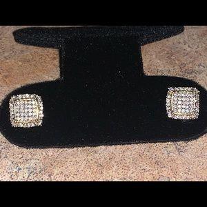 10k si diamond earrings